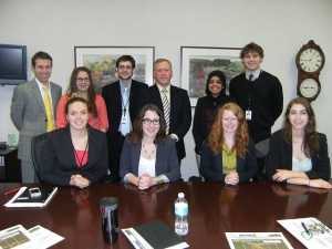 Interns with alum Philip Bousquet.
