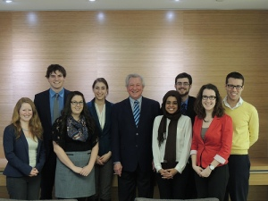 Interns with former Premier Ernie Eves.