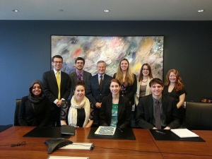 Interns with constitutional scholar Peter Hogg.